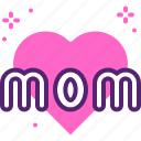 day, heart, mothers, love icon