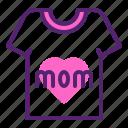 day, mothers, shirt, tshirt icon
