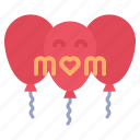 balloon, celebration, day, mothers icon