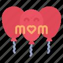 balloon, celebration, mothers, day icon