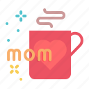 coffee, day, mothers, mug, cup, gift icon