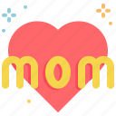 day, heart, love, mothers, mother, mom icon