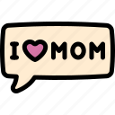 day, happy, love, mom, mother, mother's day, mothers icon