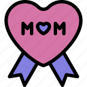 happy, love, medal, mom, mother, mother's day icon