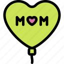 balloon, happy, love, mom, mother, mother's day icon