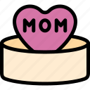 gift, happy, love, mom, mother, mother's day icon