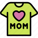 happy, love, mom, mother, mother's day, shirt icon