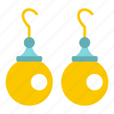 bead, earring, fashion, gift, jewel, pearl, pendant icon