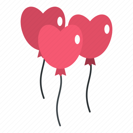 balloon, birthday, day, heart, mothers, pink, three icon