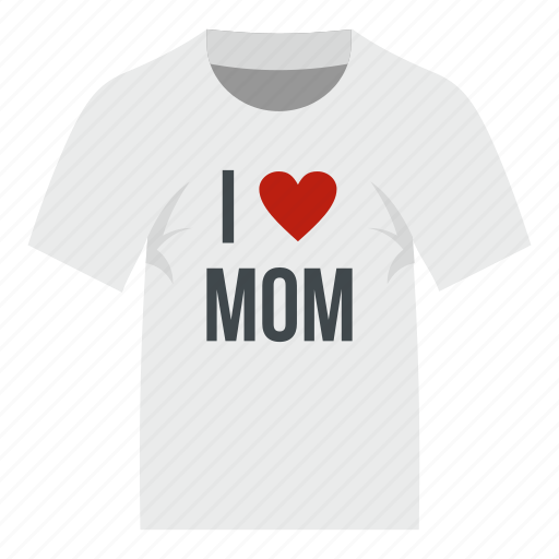 heart, love, mom, mother, shirt, text, typography icon