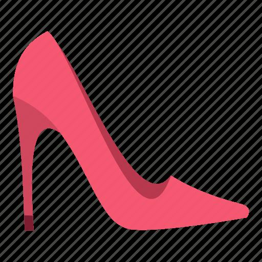 elegant, fashion, heel, high, leather, pink, shoe icon