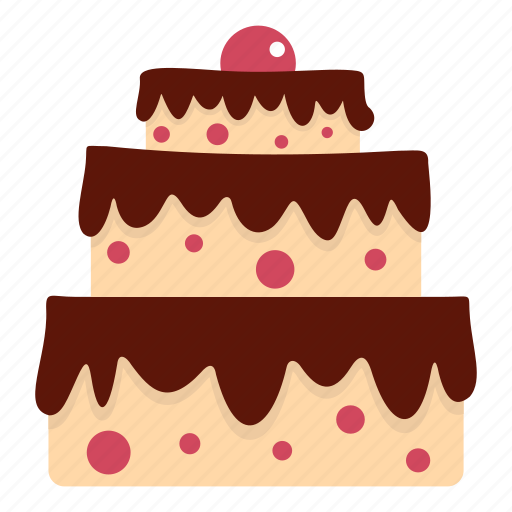 cake, chocolate, decoration, delicious, dessert, food, sweet icon