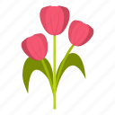 beautiful, bouquet, flower, mom, pink, spring, tulip icon