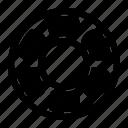 ball, bearing, motorbike, parts, rotary icon