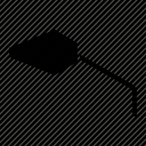 behind, look, mirror, motorbike, parts, side icon