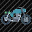 biker, brat, motorcycle, transportation, vehicle icon