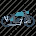 biker, classic, motorcycle, transportation, vehicle icon