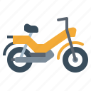 biker, moped, motorcycle, transportation, vehicle icon