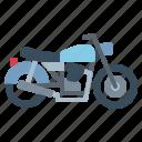biker, motorcycle, retro, transportation, vehicle icon