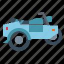 biker, motorcycle, sidecar, transportation, vehicle