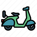 motorcycle, retro, scooter, transportation icon