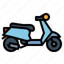 motorcycle, scooter, transportation icon