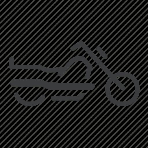 cruiser, motorbike, motorcycle icon