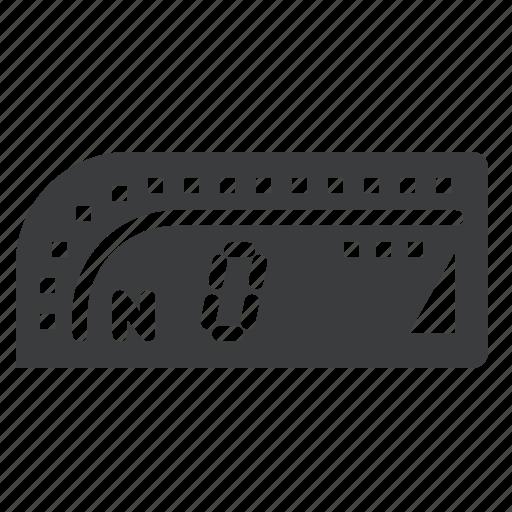 dashboard, motorcycle, odometer, speedometer, tachometer, tripmeter icon