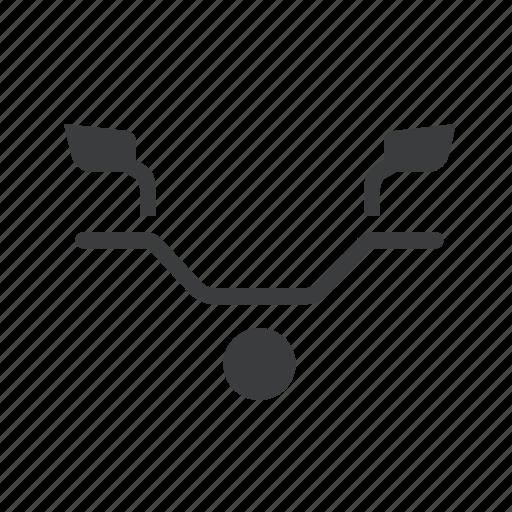 bike, handlebar, headlight, mirror, motorcycle icon