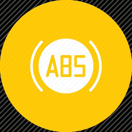 abs, antilock, brake, braking, car, motorcycle, system icon