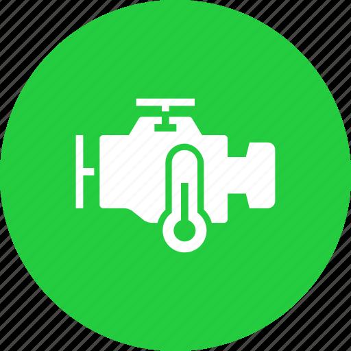 engine, heat, motorcycle, sensor, temperature icon