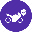 cover, health, insurance, maintenance, motorcycle, protection, service icon