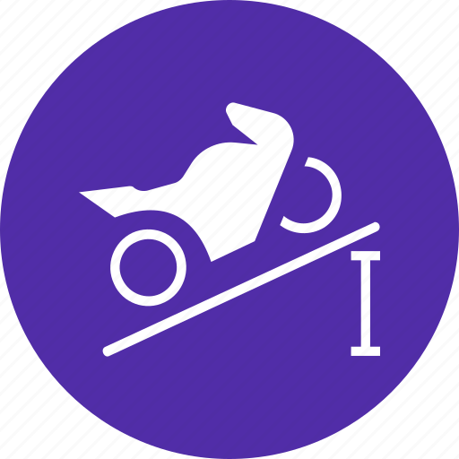 Pull, force, power, torque, motorcycle, climb icon