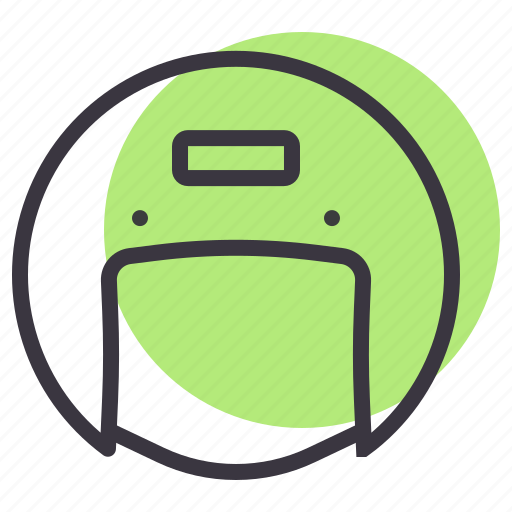 Helmet, gear, protection, safety, motorcycle, rider icon