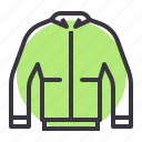 gear, jacket, motorcycle, protective, rider, riding, safety icon