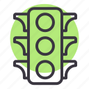 light, road, signal, traffic, transportation, vehicle icon