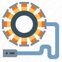 engine, motorcycle, part, stators, transport icon