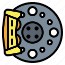 brake, disk, motorcycle, parts, repair icon