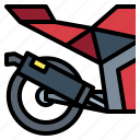 engine, exhaust, motorcycle, parts icon