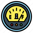 electronic, motorcycle, gauges, fuel, parts icon
