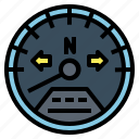 electronic, motorcycle, parts, speedometer icon