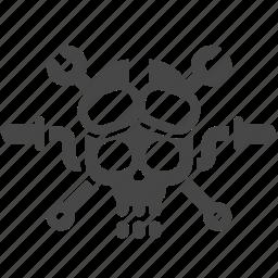 emblem, gang, gangster, motorbike, motorcycle, racing, skull icon