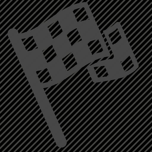 blazon, checkered flag, flag, motorcycle, racing, win, winner icon