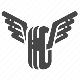 emblem, gangster, motorcycle, racing, tire, wheel, wings icon