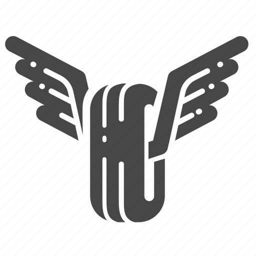 emblem, gangster, motorcycle, racing, tire, wheel, wings icon