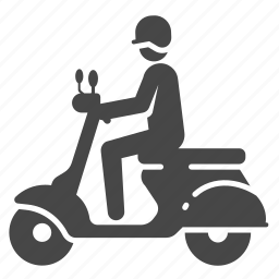 delivery, motorbike, motorcycle, scooter, transportation, vehicle, vespa icon