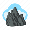 conquest, forest, goal, mountain, mountaineering, nature, peak icon