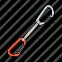carabiner, climbing, coupling, equipment, insurance, rope