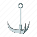 anchor, climbing, construction, equipment, hook, tool, trident icon