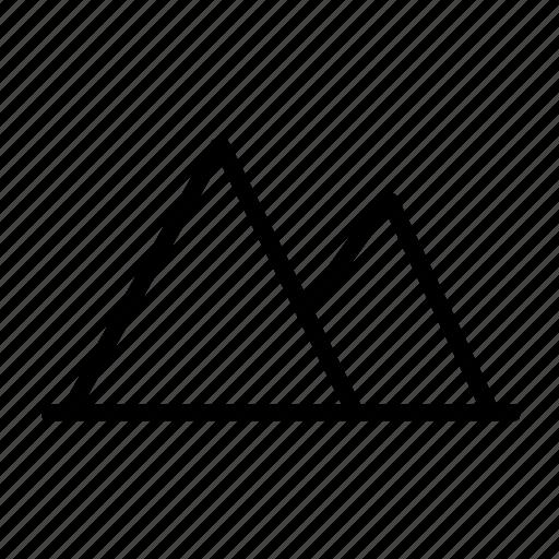camping, mountain, mountains, photo icon